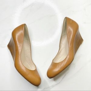 L.K. Bennett Wooden Wedge Round Toe Pumps 41